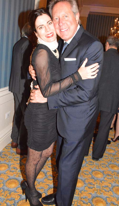 Barry M. Weintraub, MD. ,F.A.C.S. and his lovely fiancé.  Photo by:  Rose Billings/Blacktiemagazie.com