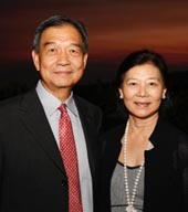 Getty Board Member David Lee and his wife Blue Ribbon memberand event co-chair Ellen Lee