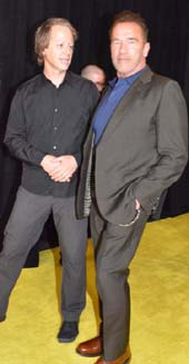Joel Bach (Executive Producer) and Former Gov. Arnold Schwarzenegger,.  Photo by:  Rose Billings/Blacktiemagazine.com