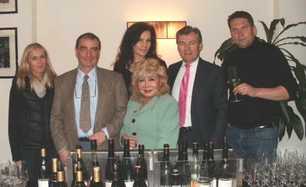 Some of the guests of Anton Bauer Winery at the Wine Festival in Austria. Monica Erber, Pepi Obermoser, Barbara Obermoser, Inna Hofner, Kim Solomon, Gloria T. Cressler and other friends of the winery