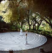 Walking the Golden Door Labyrinth